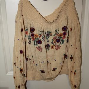 NWT Free People off the shoulder floral top